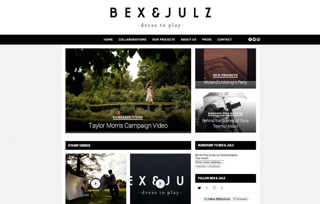 Bex & Julz Screen Shot Build Me A Site