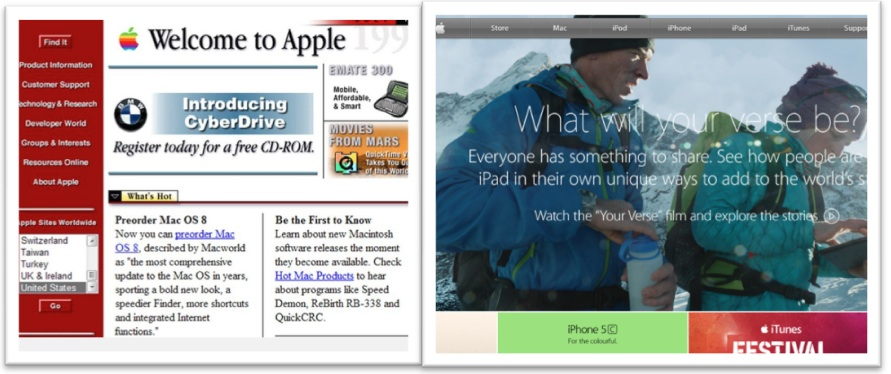 Apple Image of website